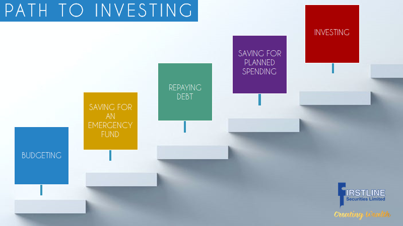 Path to Investing chart from Firstline Securities Limited