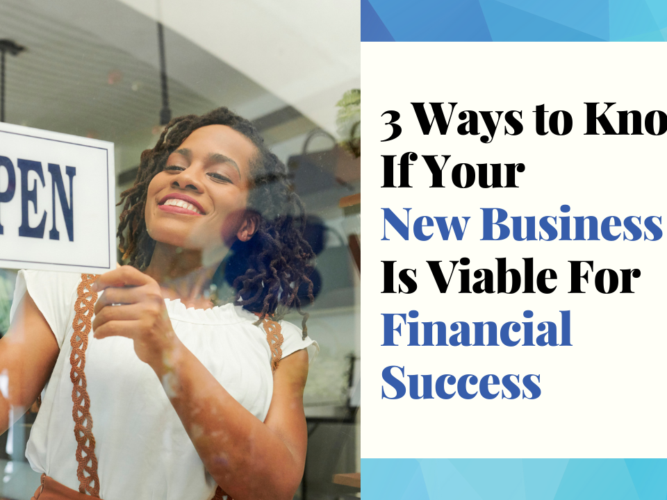 3 Ways to Know If Your New Business Is Viable For Financial Success